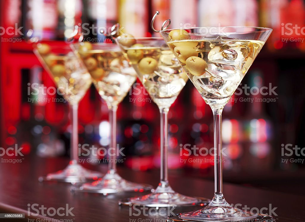 Cocktails Collection - Martini stock photo