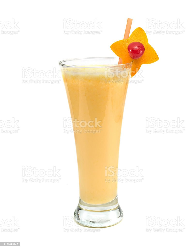 Cocktails Collection - Orange Smoothie royalty-free stock photo