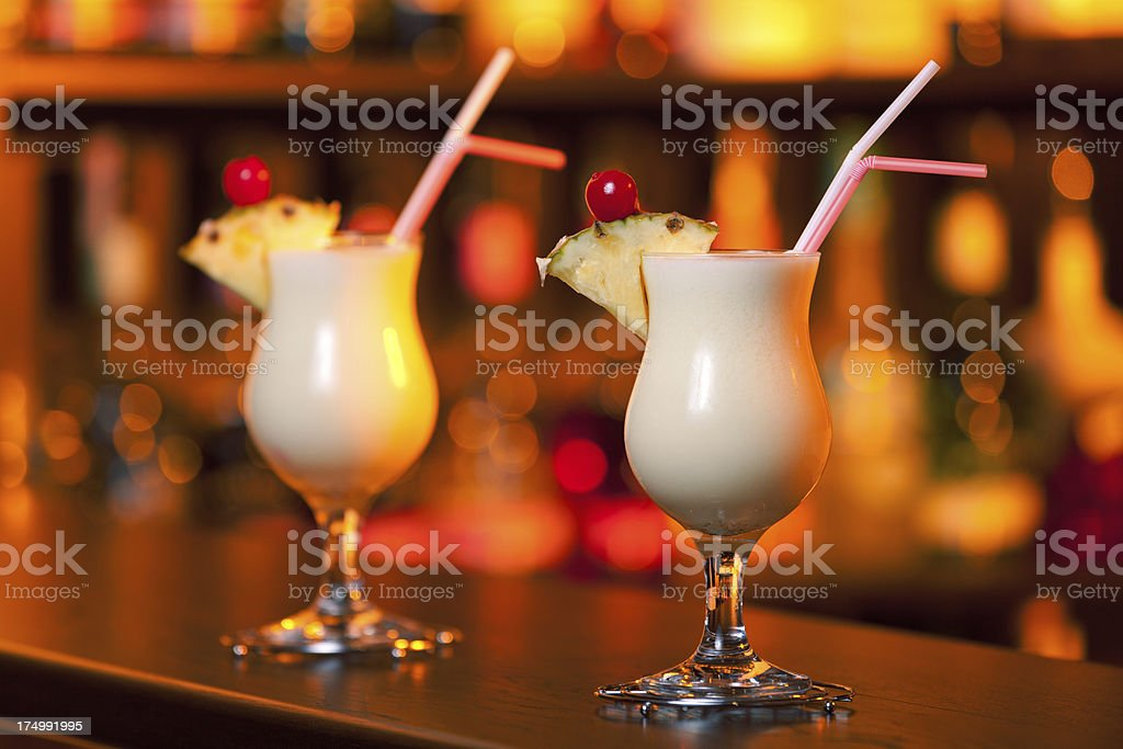 Cocktails Collection - Pina Colada stock photo