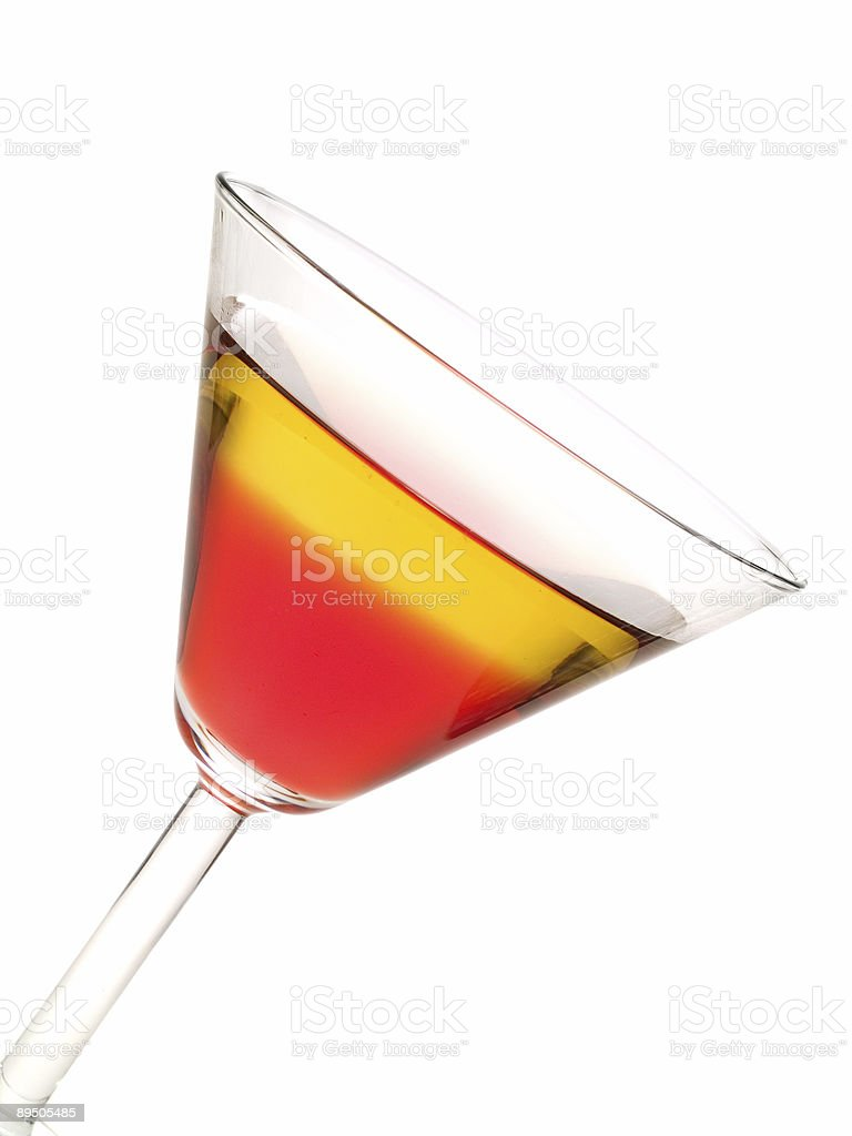 Collezione cocktail-Rob Roy foto stock royalty-free