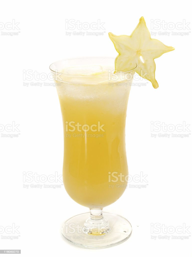 Cocktails Collection - Starfruit Cocktail royalty-free stock photo