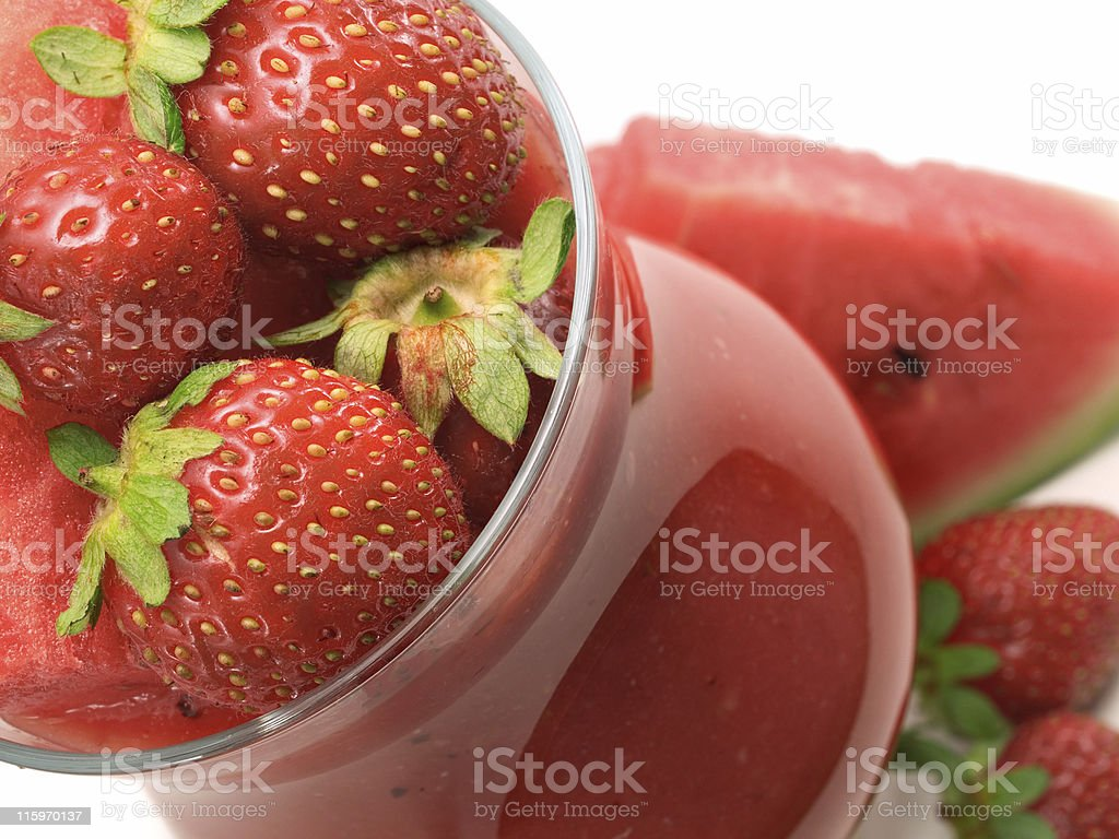 Cocktails Collection - Strawberry and Watermelon Smoothie royalty-free stock photo
