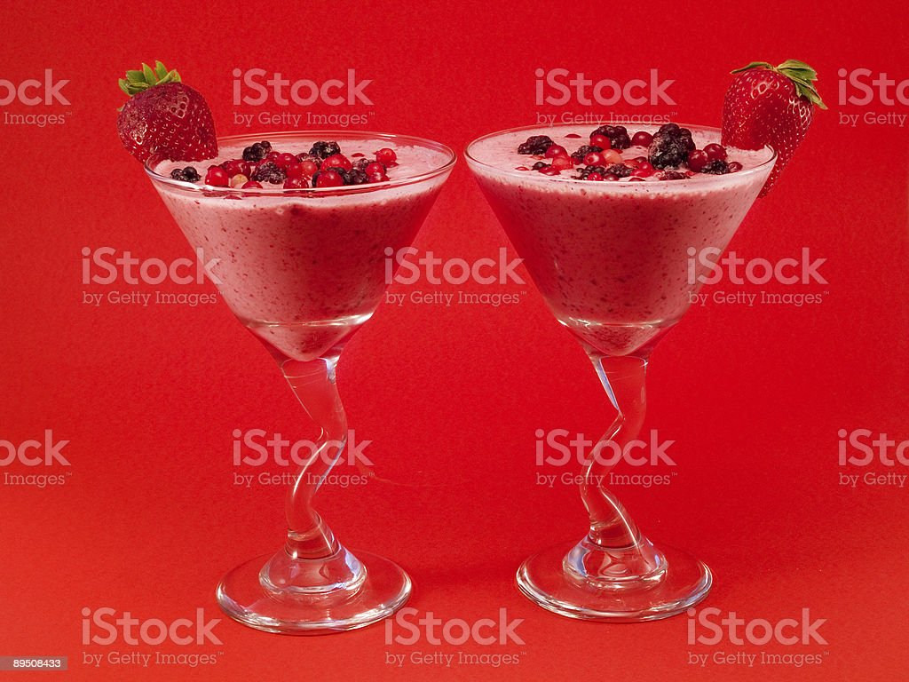 Cocktails Collection - Summer Berry Smoothie royalty-free stock photo