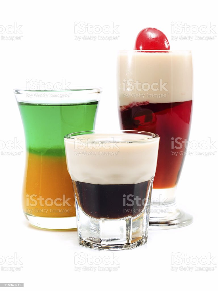 Cocktails Collection - Three Shots royalty-free stock photo