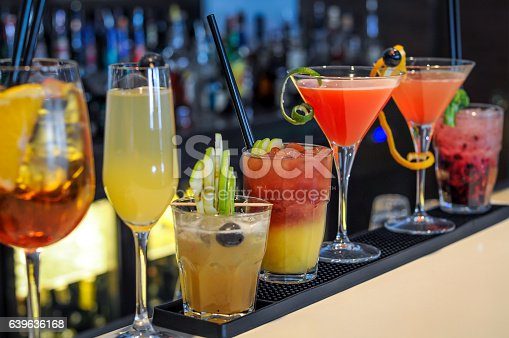istock Cocktails drinks on bar 639636168