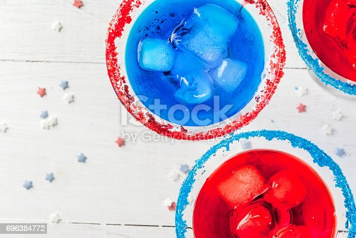 istock Cocktails for July, 4 696384772