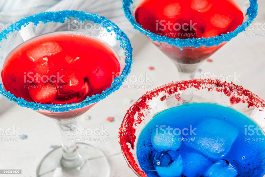 Cocktails for July, 4 stock photo