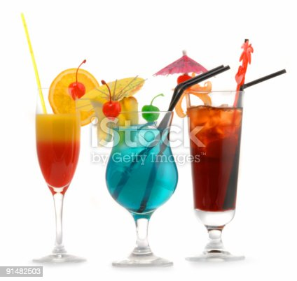 istock Cocktails, isolated on white background 91482503