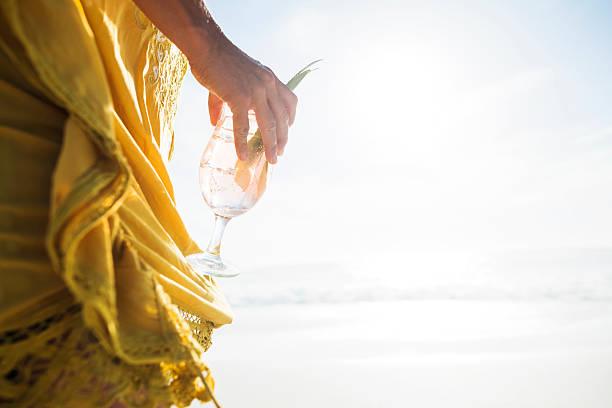 Cocktail sulla spiaggia - foto stock