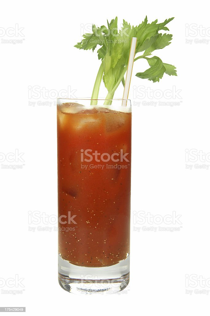 Cocktails on white: Bloody Mary. stock photo