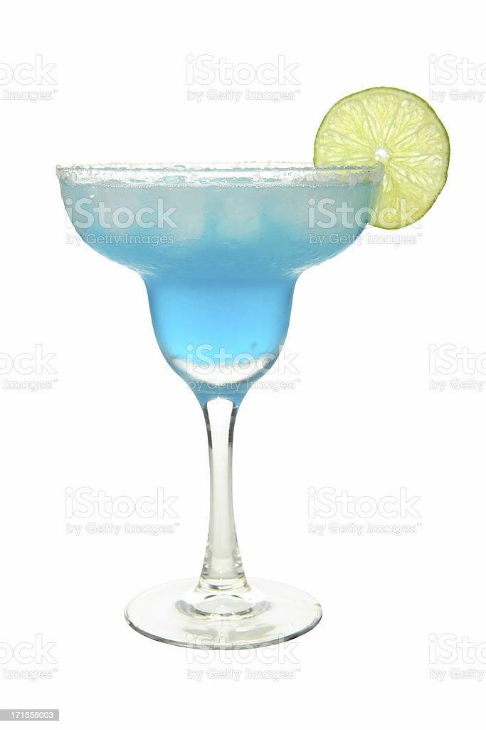 Cocktails on white: Blue Margarita. stock photo