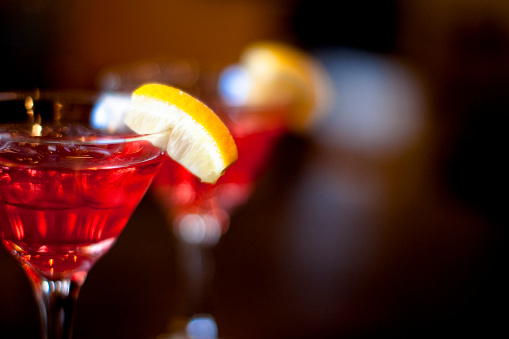 Two coktails waiting to be savored.