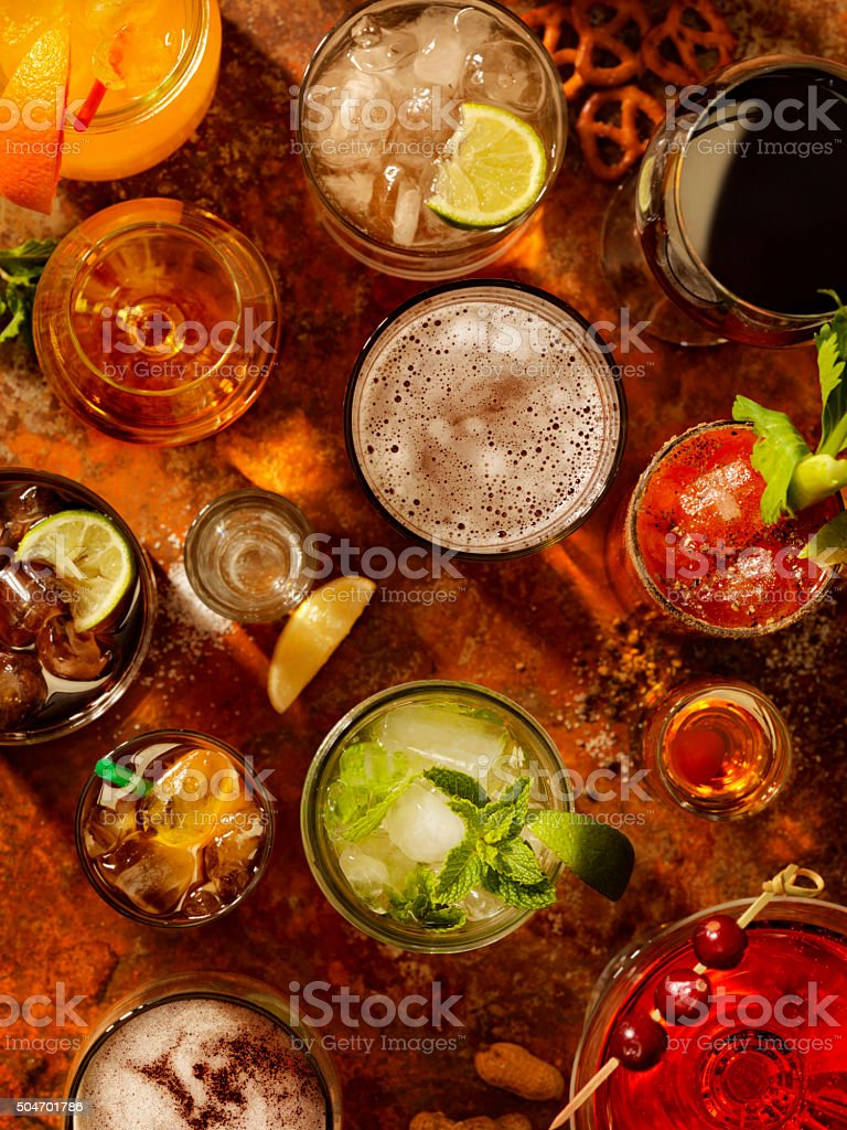 Cocktails stock photo