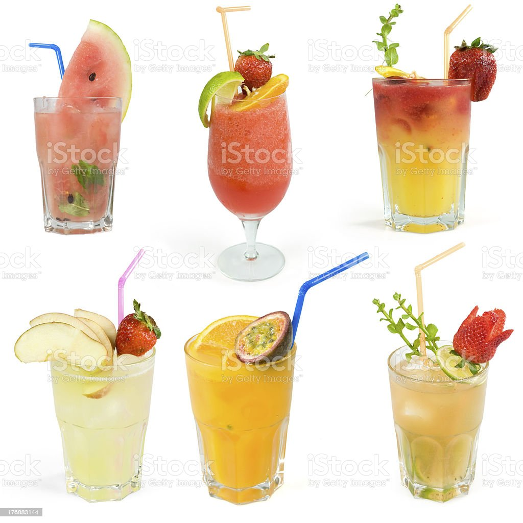 Cocktails set royalty-free stock photo