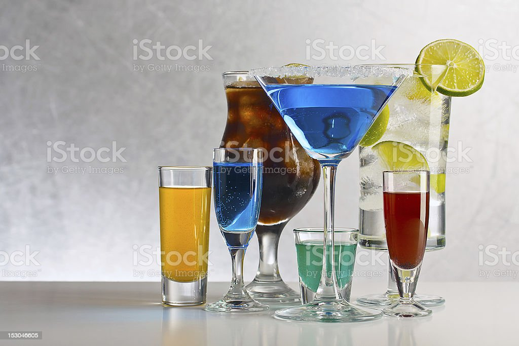 Cocktails with alcohol royalty-free stock photo