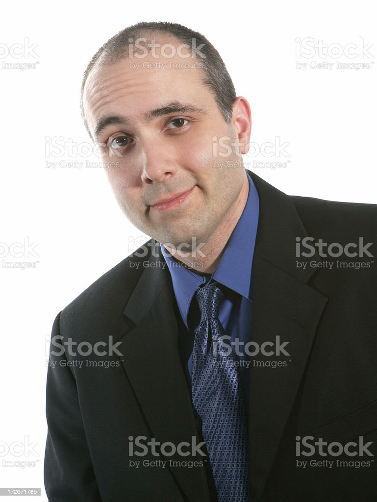 Cocky business man royalty-free stock photo