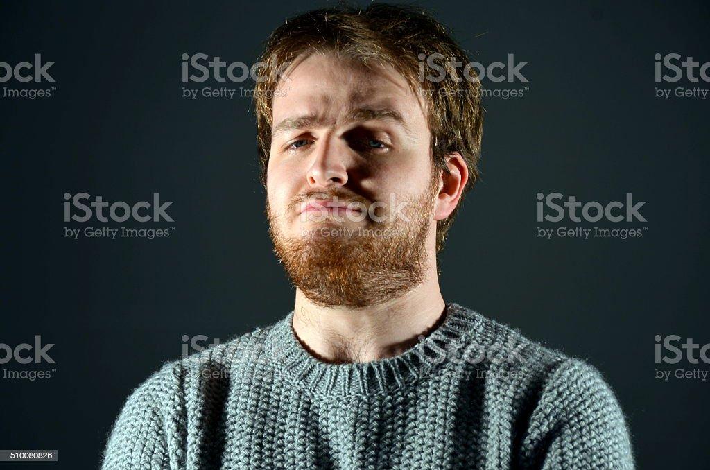 Cocky guy stock photo