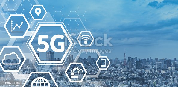 istock 5G (fifth-generation mobile communications system) cocnept. 1169711597