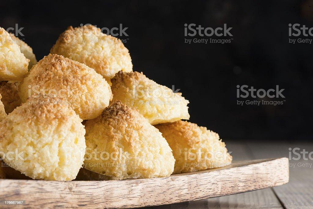 Cocnut macaroons royalty-free stock photo