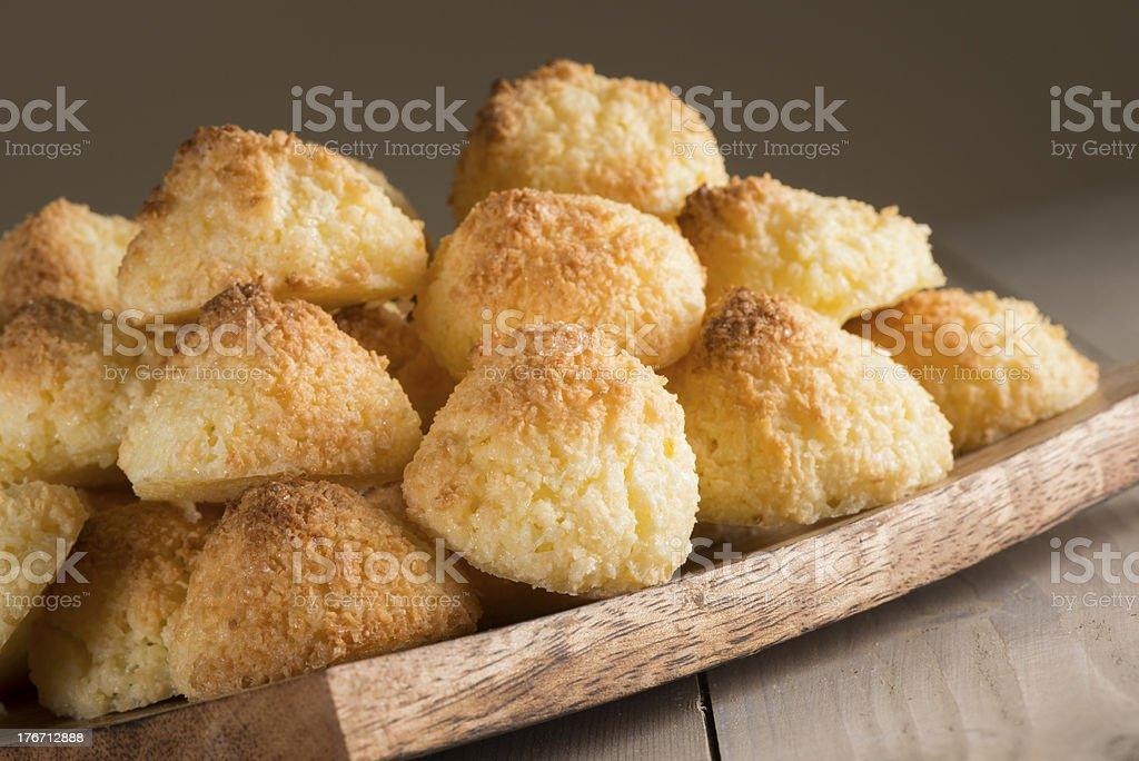 Cocnut macaroons stock photo