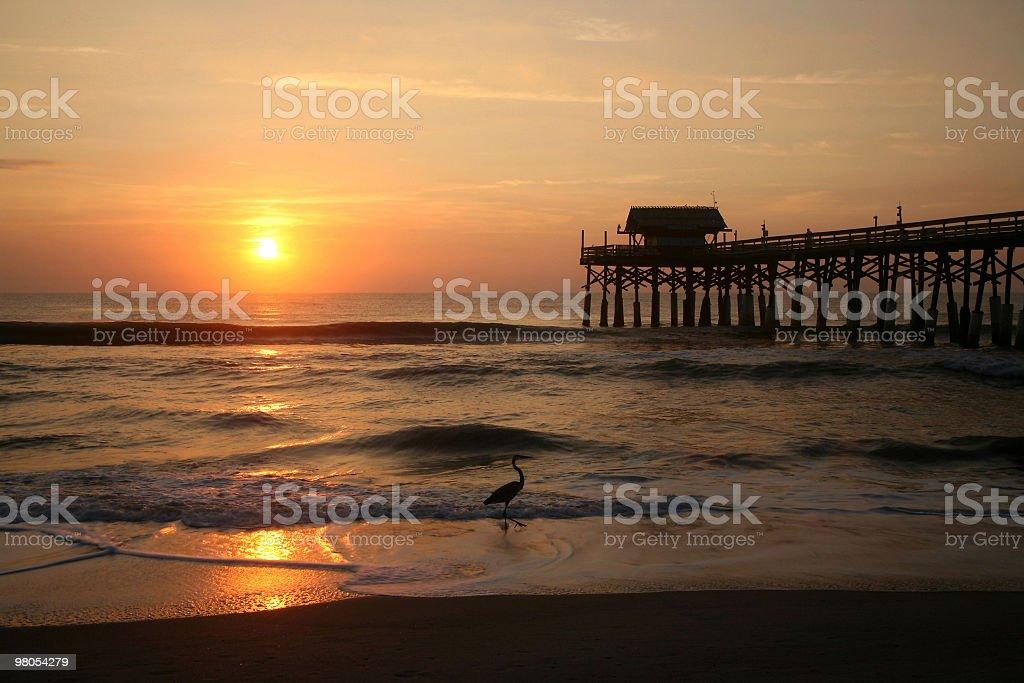 Cocoa Beach Pier at Sunrise royalty-free stock photo