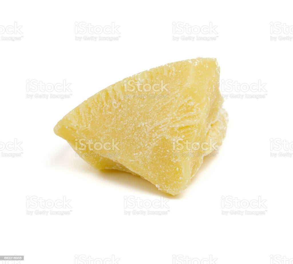 cocoa butter isolated on white background foto stock royalty-free