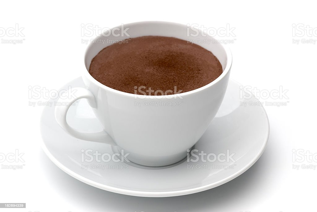 Cocoa in white cup royalty-free stock photo