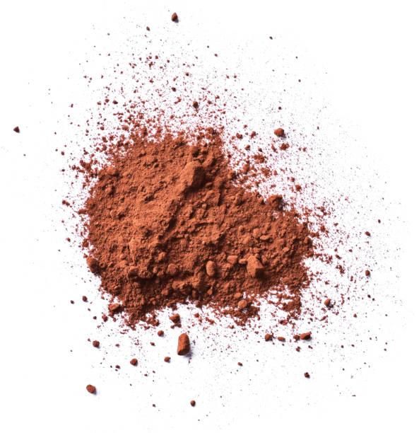 kakao-eller kaffe pulver, isolerat - mald bildbanksfoton och bilder