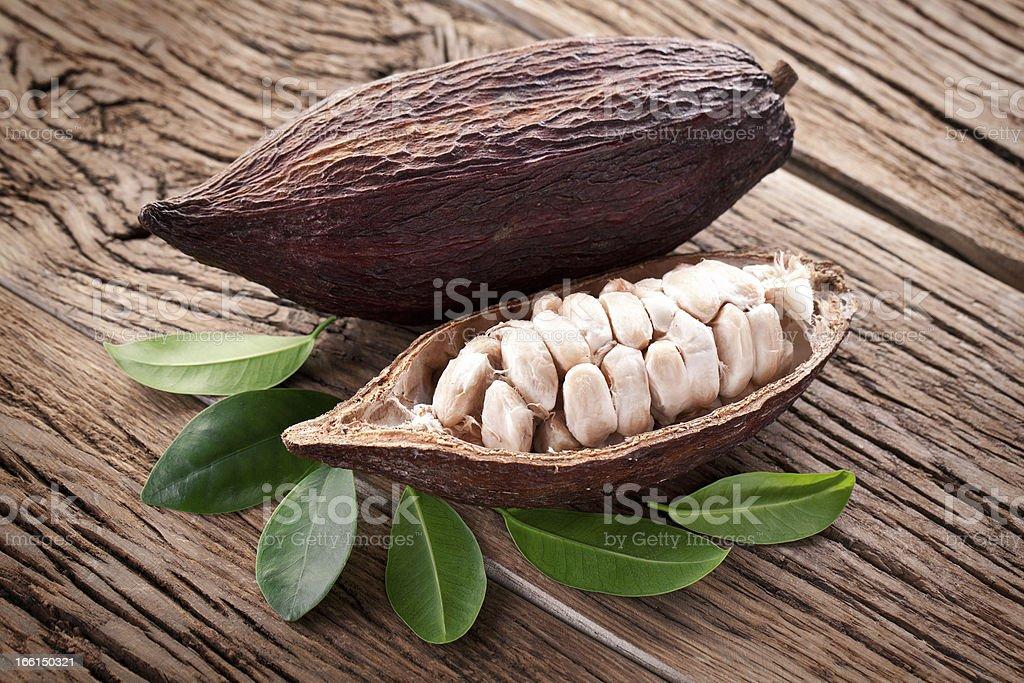 Cocoa pod royalty-free stock photo