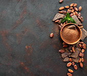 istock Cocoa powder and beans 1139824596