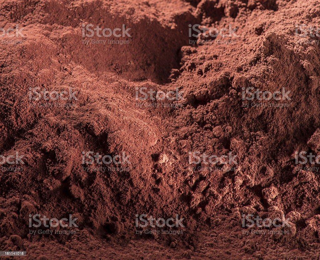 Cocoa Powder Background stok fotoğrafı