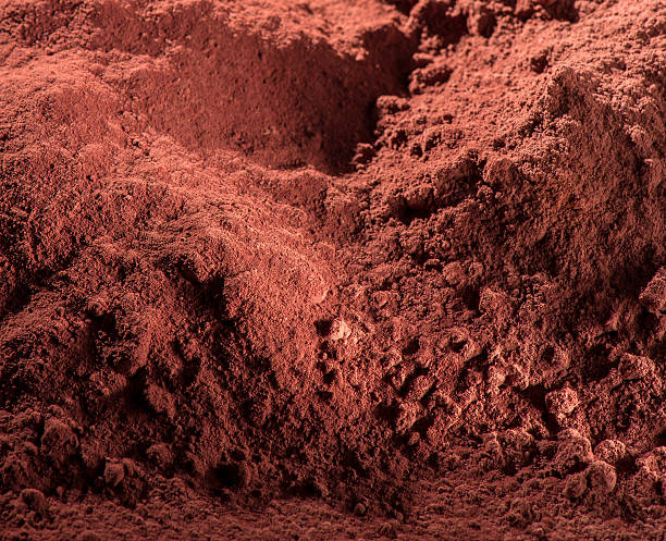 Cocoa Powder Background stock photo