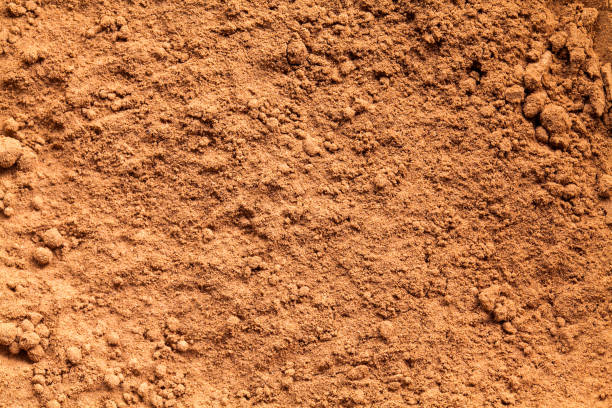 Cocoa powder - high definition pattern stock photo
