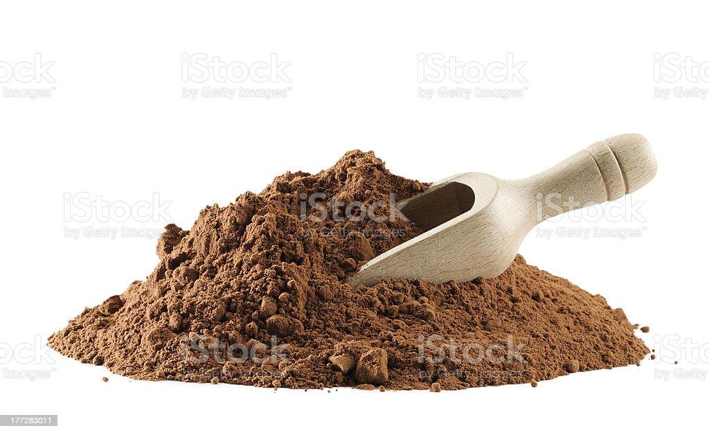 Cocoa powder royalty-free stock photo