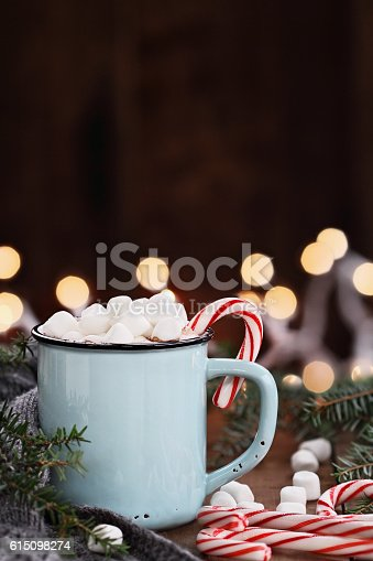 istock Cocoa with Marshmallows and Candy Canes 615098274