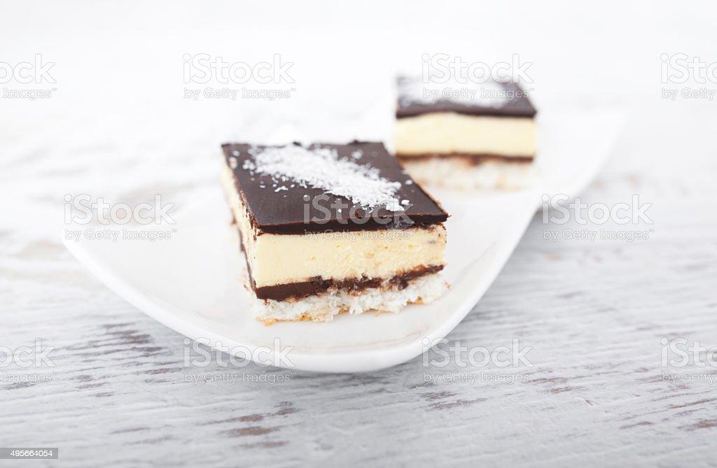 Bolo de Chocolate e coco - foto de acervo