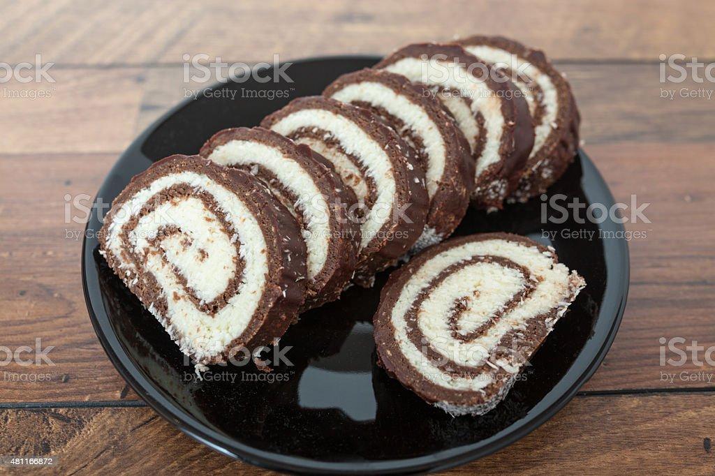 Sobremesa de Chocolate e coco - foto de acervo
