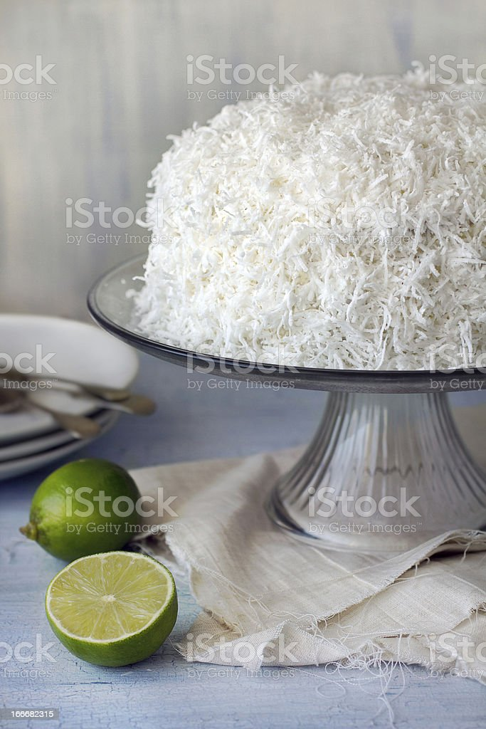 coconut and Lime cake royalty-free stock photo