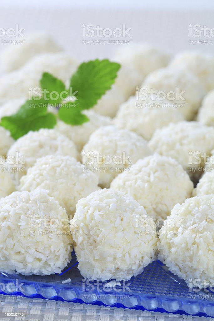 coconut balls royalty-free stock photo