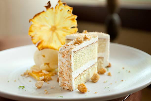 coconut cake - ananaskuchen stock-fotos und bilder