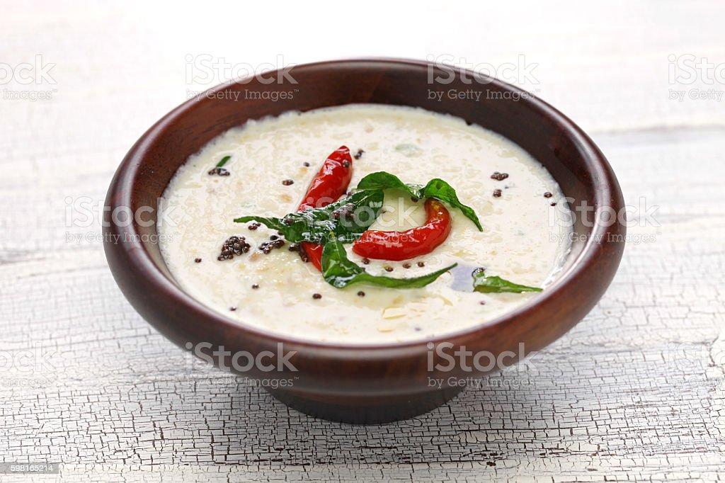 coconut chutney, indian food stock photo