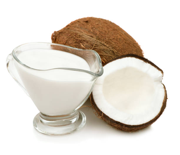 Coconut cream, milk stock photo