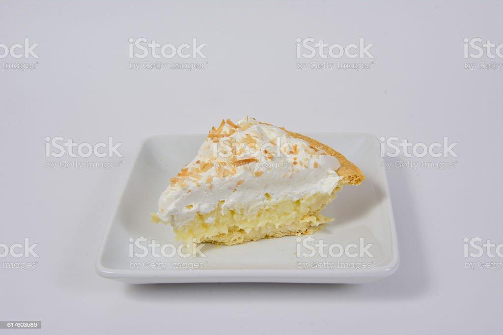 Torta de creme de coco - foto de acervo