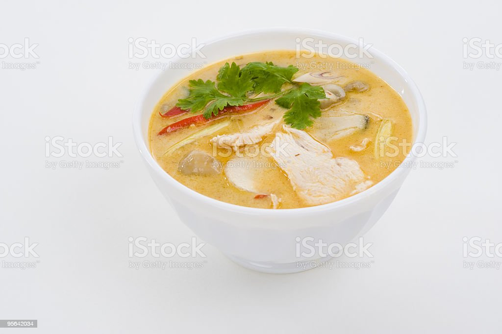 coconut cream soup royalty-free stock photo