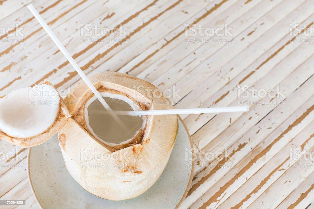 Bebida de coco - foto de acervo