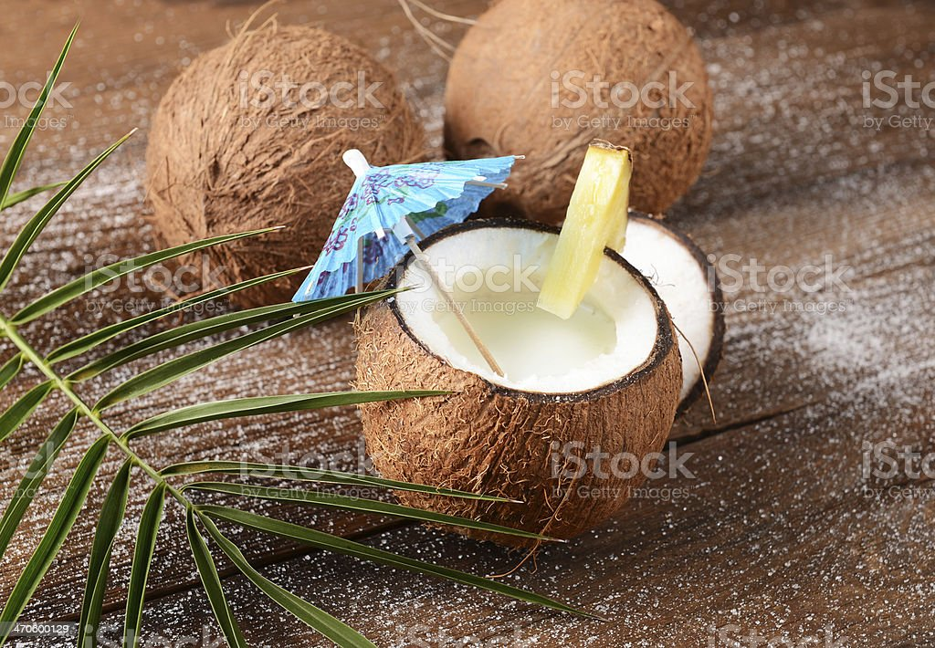 Coconut drink stock photo