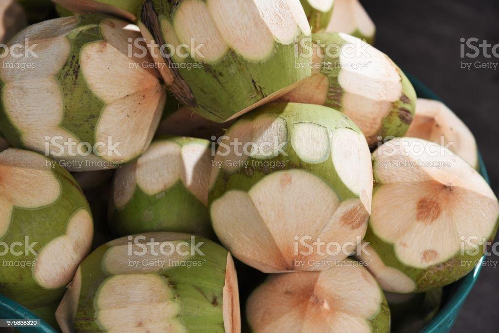 Kokosnuss-Frucht - Lizenzfrei Fotografie Stock-Foto