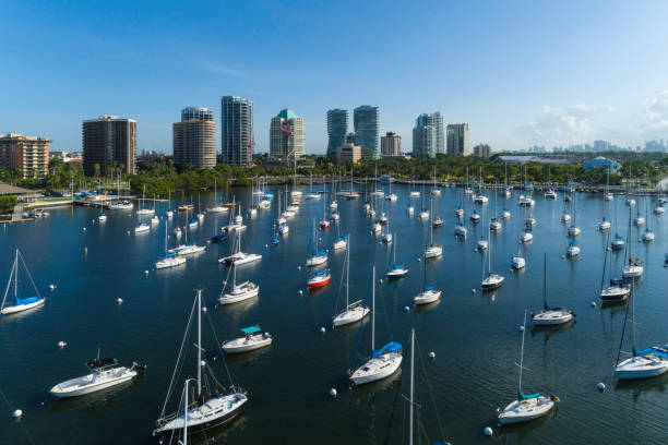 Coconut Grove Bay stock photo