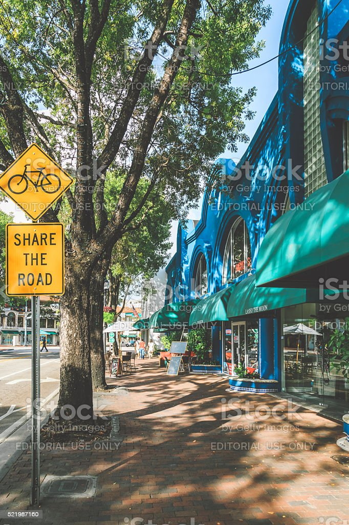Coconut Grove, Miami stock photo