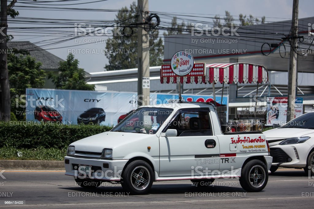 Coconut Icecream Shop On Daihatsu Mira Mini Truck Stock Photo Download Image Now